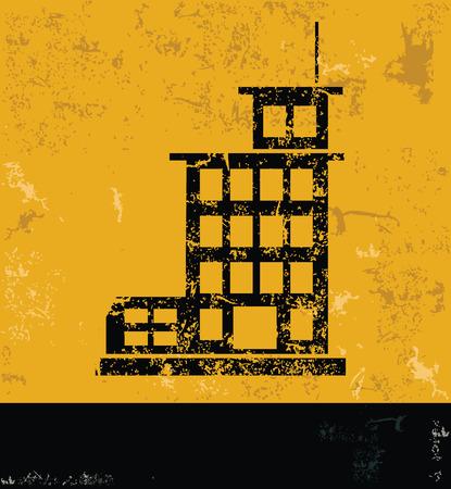 FactoryIndustry design on yellow backgroundgrunge vector