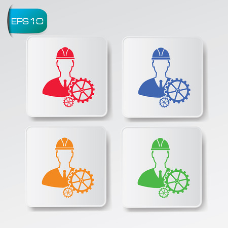Engineering on button backgroundclean vector Vector