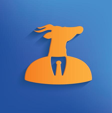 Goat on blue backgroundclean vector Vector