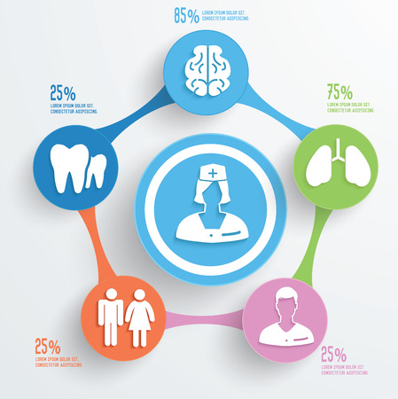 nurses: Doctor and medical info graphic design Illustration
