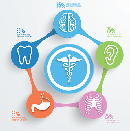 Healthy care and medical info graphic design Vector