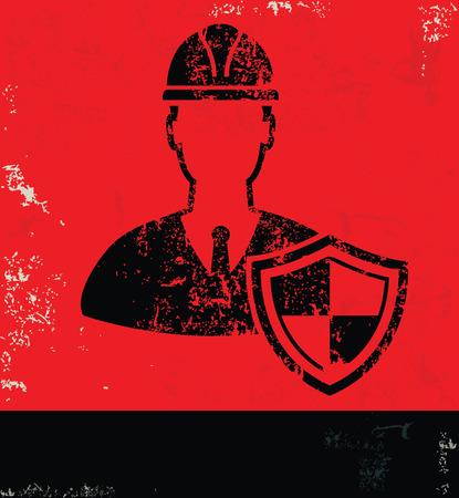 pied   � coulisse: La conception technique sur le vecteur de backgroundgrunge rouge