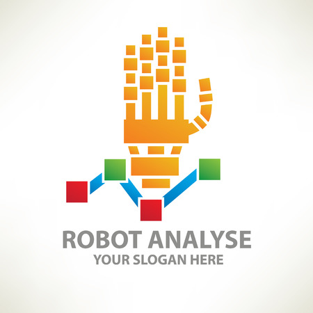 lubricate: Robot analyse templateclean vector Illustration