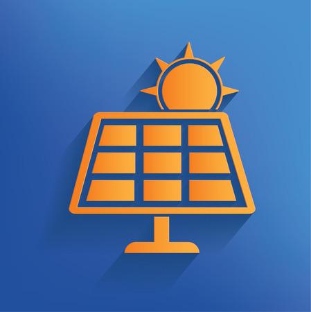 Solar sun design on blue backgroundclean vector Vector