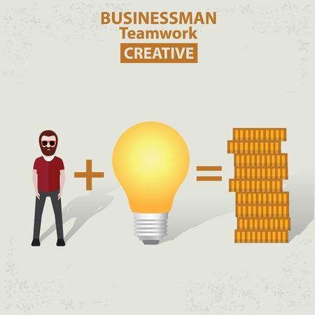 old background: Make money businessman concept design on old background clean vector.