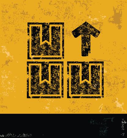 Shipping design on yellow backgroundgrunge concept vector Vector