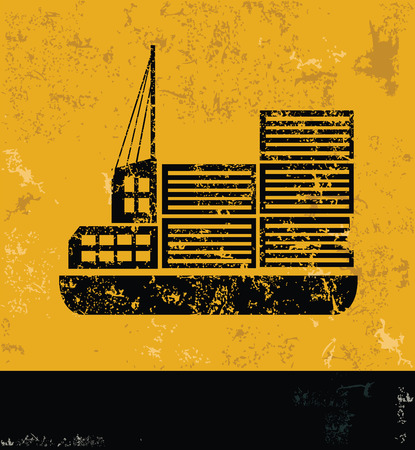 enormous: ShippingtransportIndustry design on yellow backgroundgrunge vector