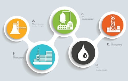 Industry on buttons info graphic designclean vector Vector