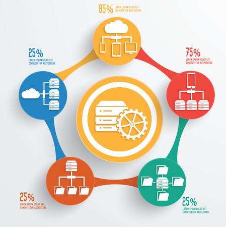 Database servertechnology info graphic design Vector