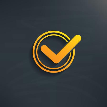 Check mark on blackboard backgroundclean vector