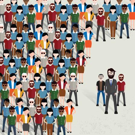 BusinessmanCommunity begrip designclean vector Vector Illustratie