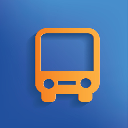Bus design on blue background clean  Vector