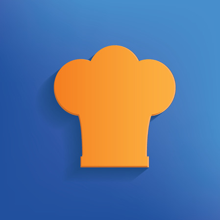 replaceable: Chef design on blue background clean