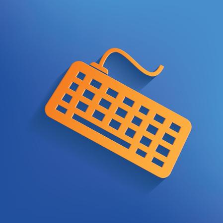 put the key: Keyboard design Stock Photo