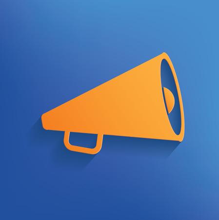 herald: Megaphone design on blue backgroundclean vector Illustration
