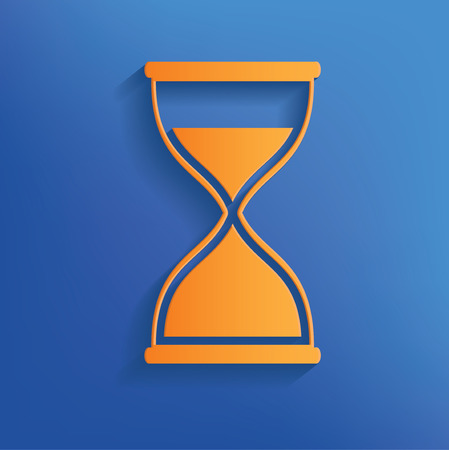 Hourglass design on blue backgroundclean vector Vector