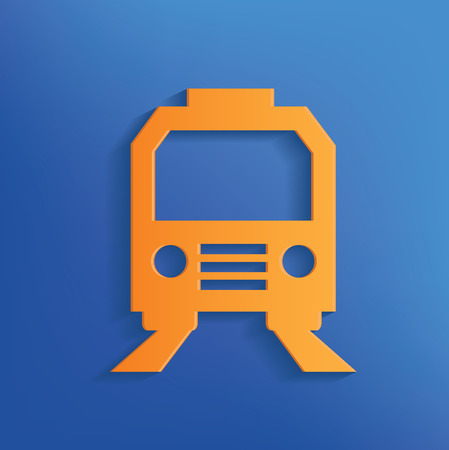 sonic: Train design on blue backgroundclean vector