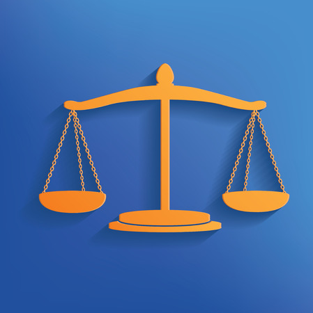 justice scale: Justice scale design on blue backgroundclean vector