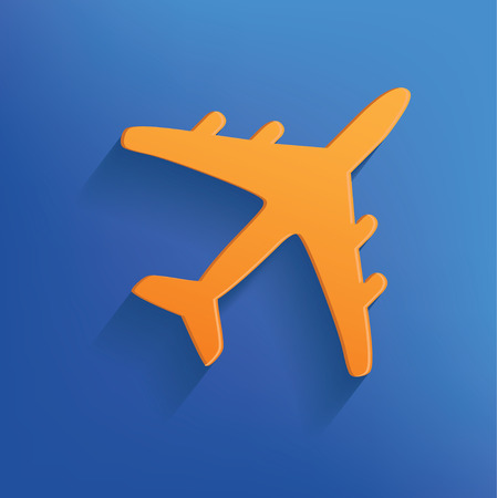 Airplane design on blue backgroundclean vector Vector