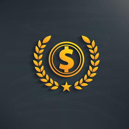 accounting logo: Dollar design on blackboard backgroundclean vector