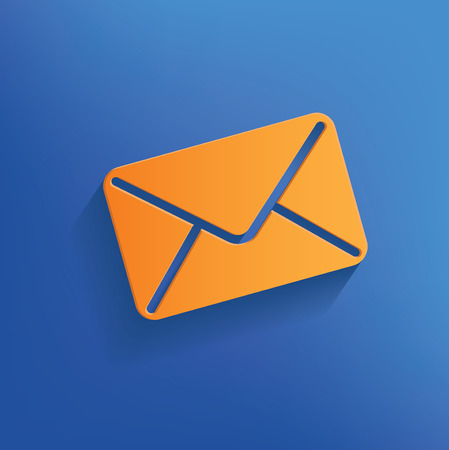 Email design on blue backgroundclean vector Vector