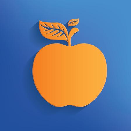 felling: Apple design on blue backgroundclean vector