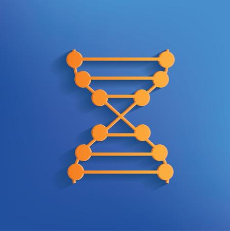 enzyme: Enzyme design on blue backgroundclean vector