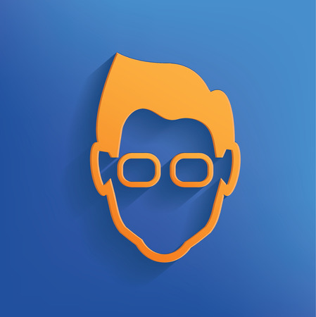 corrective lenses: Nerd design on blue backgroundclean vector Illustration
