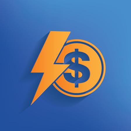 Finance design on blue backgroundclean vector Vector