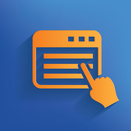 Click design on blue backgroundclean vector