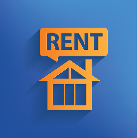For rent real estate design on blue backgroundclean vector Vector
