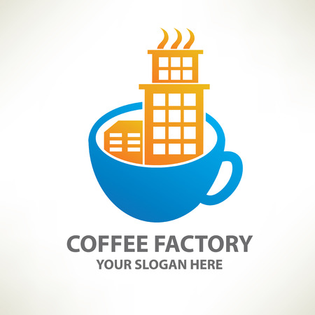 Coffee factory designlogo templateclean vector Vector
