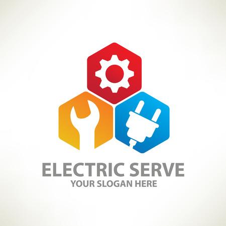 auto service: Repair designlogo templateclean vector Illustration