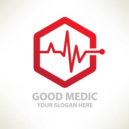 logo medicina: Designlogo médicos vector templateclean