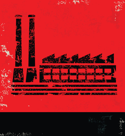 communism: Industry design on red backgroundgrunge vector