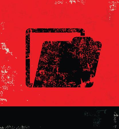 folder design: Folder design on grunge background red version