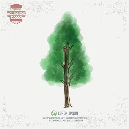 Tree design water color concept Vector