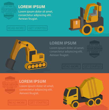 Truck and industry banner template design clean vector Vector