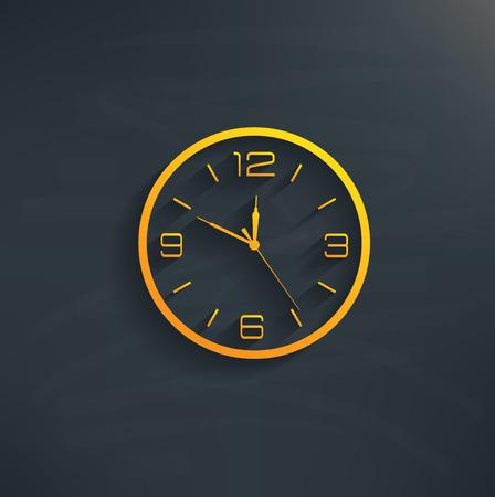 Clock on blackboard backgroundclean vector Vector