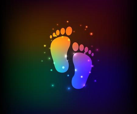 Foots design on dark background Vector