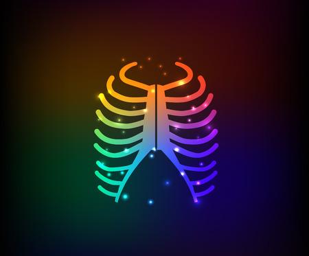 rib: Rib design on dark background