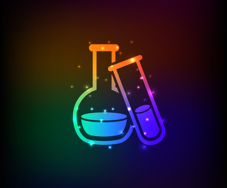 Science design on rainbow backgroundclean vector Vector