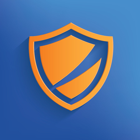 Badge on blue backgroundclean vector Vector