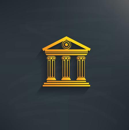 Bank on blackboard backgroundclean vector