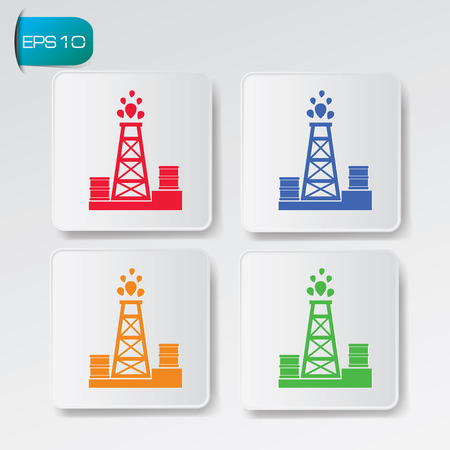 petroleum blue: Oil Industry design on buttons background