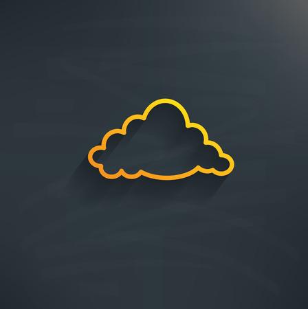 wheather: Cloud on blackboard backgroundclean vector