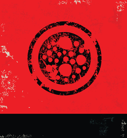 ameoba: Cell design on grunge background red version