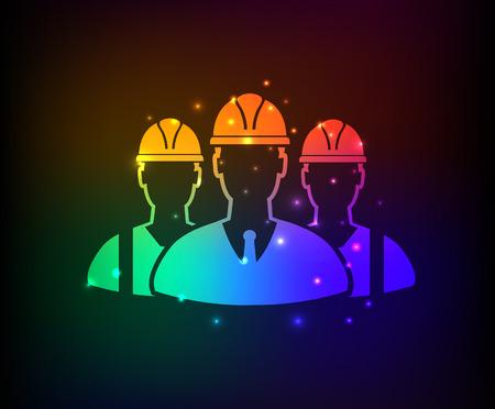 TeamEngineeringdesign on rainbow concept backgroundclean vector