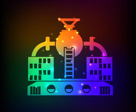 distillation: Industry design on rainbow concept backgroundclean vector