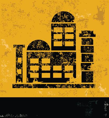 Industry design on yellow backgroundgrunge vector Vector